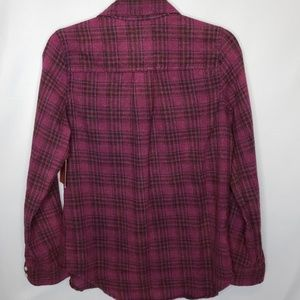 Mossimo Supply Co. Tops - New! Mossimo Berry Plaid Flannel Size Medium